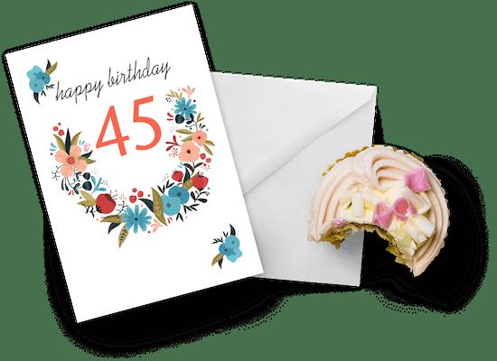45th birthday cards
