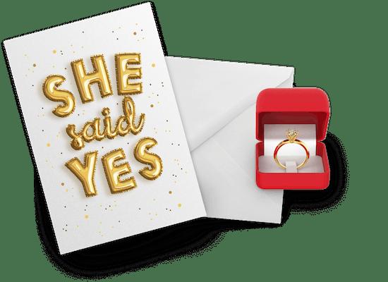 Engagement congratulations cards