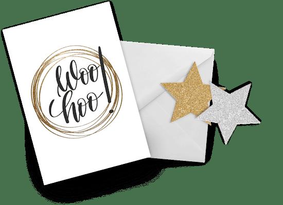 Tarjetas de Buena Suerte Con El Examen