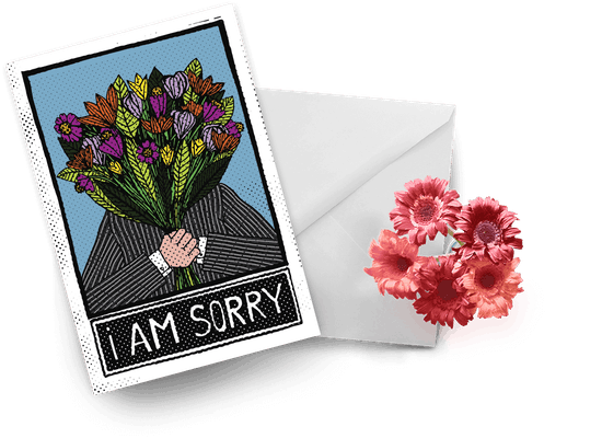 Tarjetas de disculpa