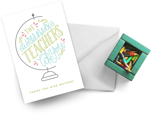 Thank You Cards For Teachers