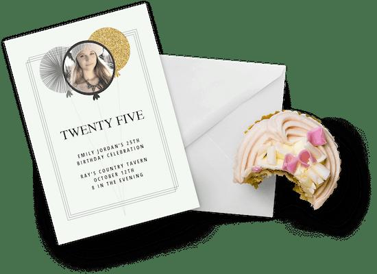 Invitaciones para el cumpleaños número 25