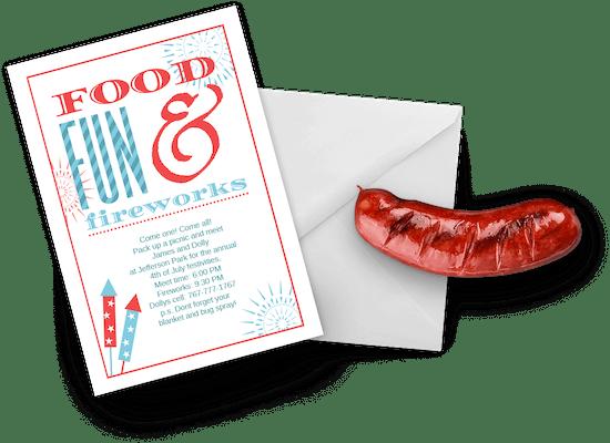 Invitaciones para el 4 de Julio