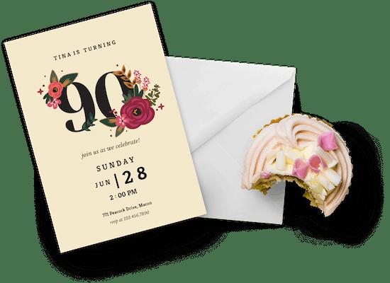 Invitaciones para el cumpleaños número 90