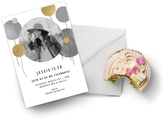 Birthday invitations with photos