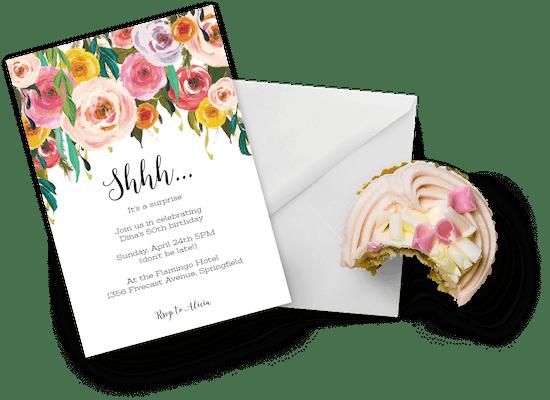 Invitaciones para cumpleaños de mujeres