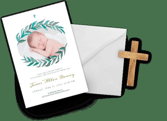 Invitaciones para Bautizo de niño