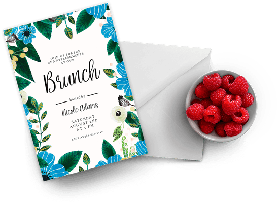 Brunch & Lunch party invitations
