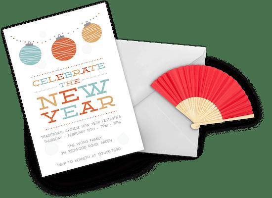 Chinese New Year invitations