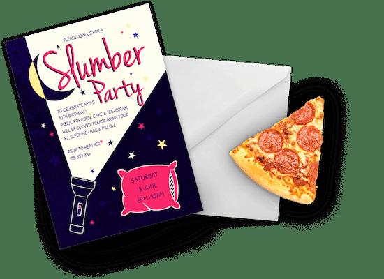 Invitaciones Para Pijamadas