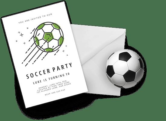 Invitaciones para eventos deportivos