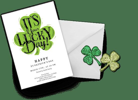 St. Patrick's day invitations