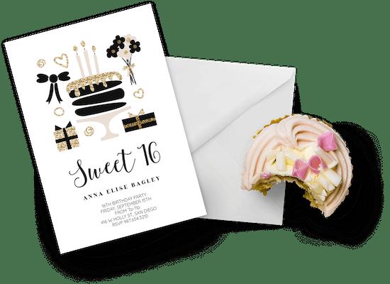 Invitaciones para el cumpleaños número 16