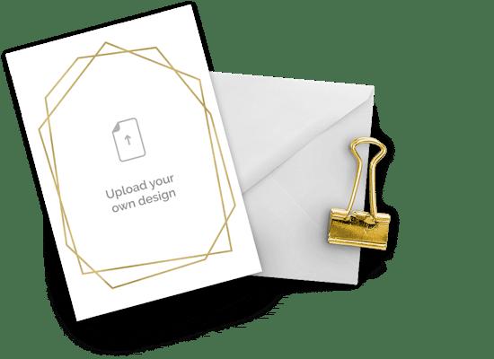 Upload your own design invitations