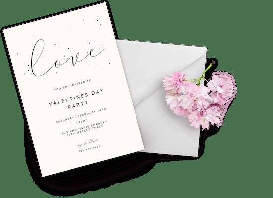 Valentine's Day invitations